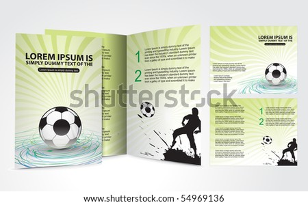 Football brochure design for champion cup and place for your text, vector illustration. - stock vector