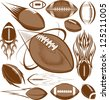Football Collection - stock vector