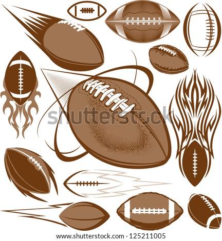 Football Collection - stock vector