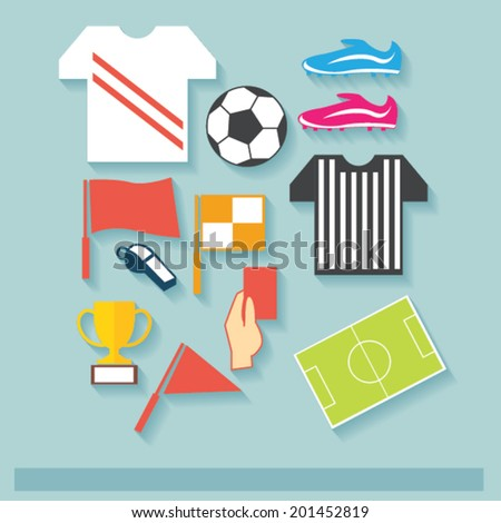 Football Cup Icon Concept - stock vector