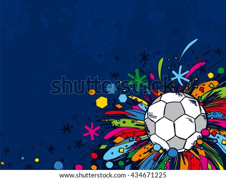 Football doodles ornament background. Soccer bright sketches. European football theme sport wallpaper. - stock vector