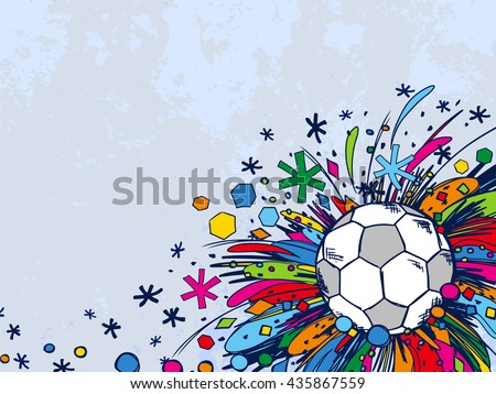Football doodles ornament background. Soccer bright sketches. European football theme sport wallpaper. Football championship. France football. Brazil football. Soccer background. Football background. - stock vector