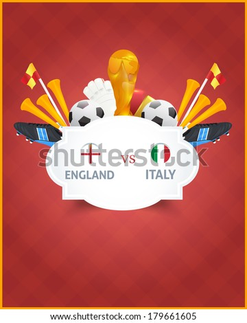 Football Event Poster Template Vector Background - stock vector