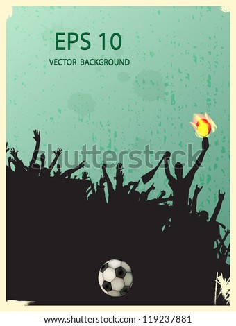 football fans - stock vector