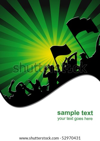 football fans crowd - stock vector
