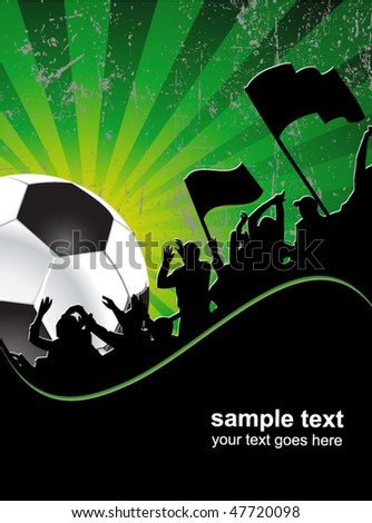 football fans crowd and the ball - stock vector