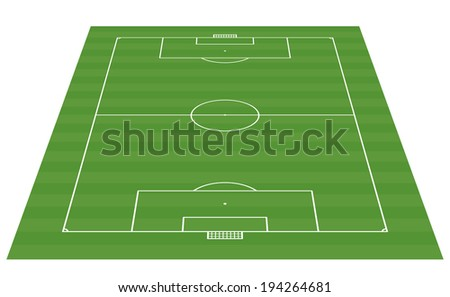 football field 3-D background vector illustration - stock vector