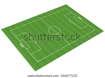 football field 3-D vector illustration