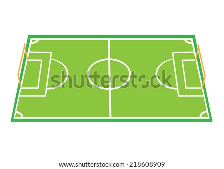 Football Field Game Plan Board template. Vector and jog - stock vector