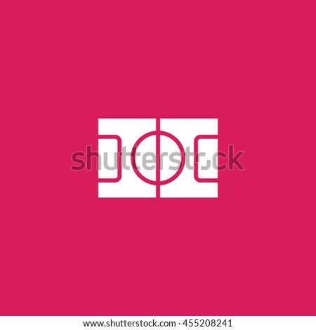 football field icon. football field sign - stock vector