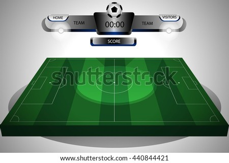 football field isometric - stock vector