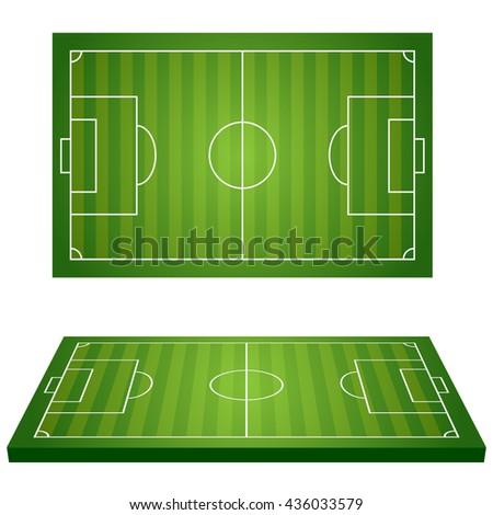 Football Field. Sport icons. Illustration Vector. - stock vector