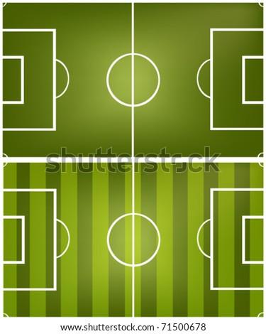 football fields - stock vector