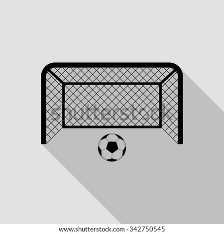 football gates vector icon with long shadow