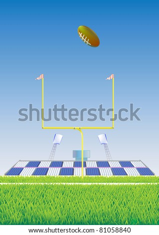 Football  goalpost. - stock vector