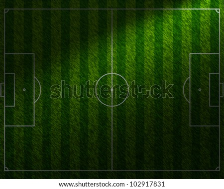 Football Grass Field with Diagonal Spotlight Vector