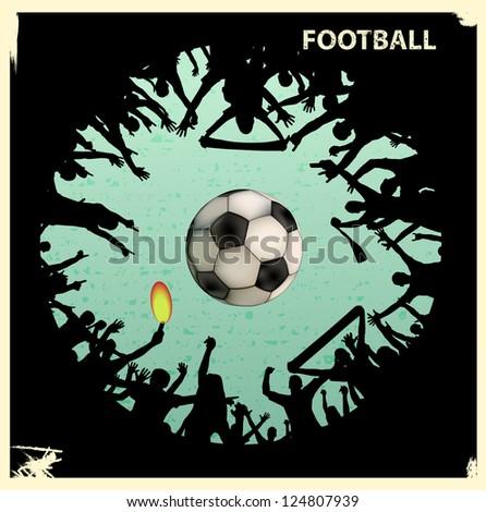 Football grunge background - stock vector