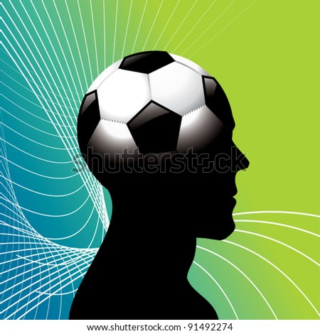 Football head. - stock vector
