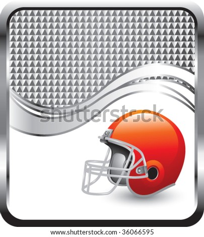football helmet on checkered wave background