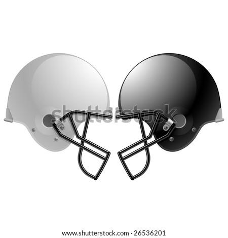 Football helmets. Vector. - stock vector