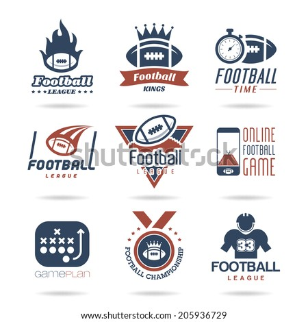 Football Icon Set - 2 - stock vector