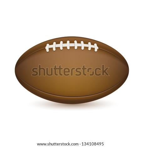 football isolated on white. EPS10 vector. - stock vector
