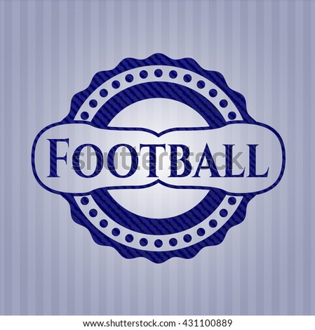 Football jean or denim emblem or badge background - stock vector