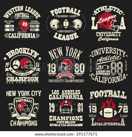 Football logo stock photos images pictures shutterstock for Athletic t shirt design ideas