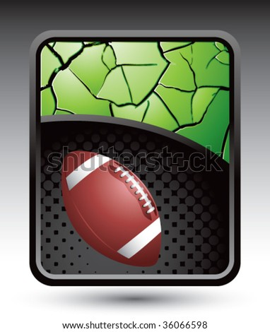 football on cracked halftone template - stock vector