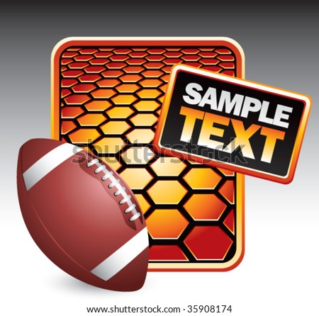 football on hexagon background - stock vector