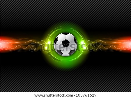 football on the electric background - stock vector
