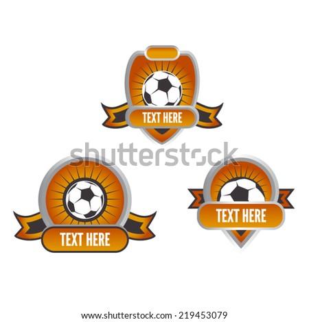 Football or Soccer Logos Club Badge Set - stock vector