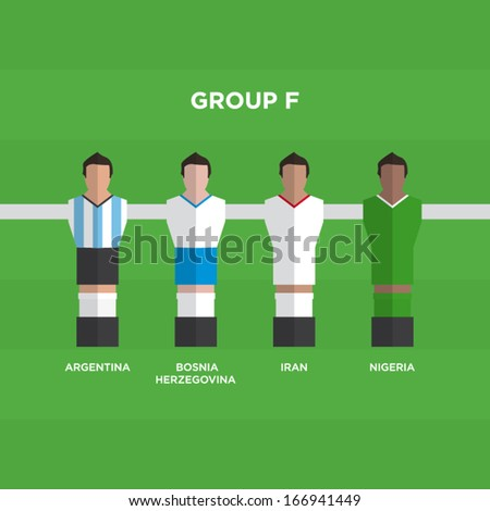 football players vector illustration - stock vector