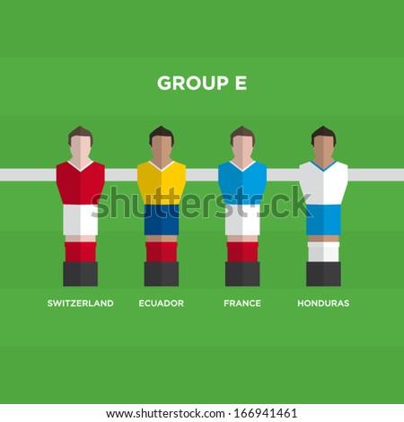 football players vector illustration - stock vector