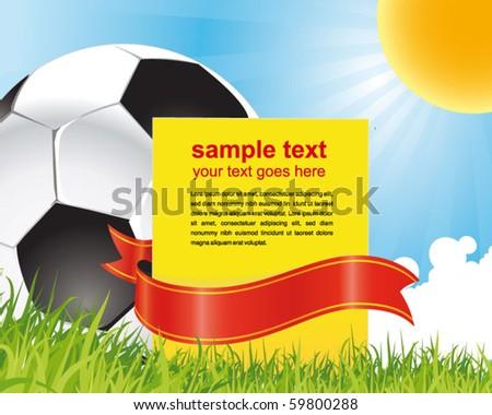 football poster - stock vector