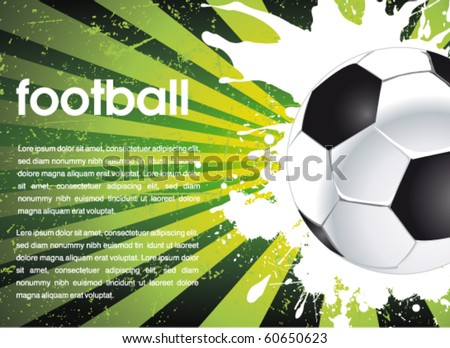 football poster - stock vector