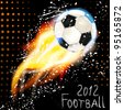 Football poster in grunge style. - stock vector