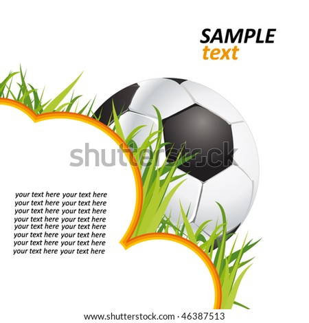 football poster with the grass and the ball - stock vector