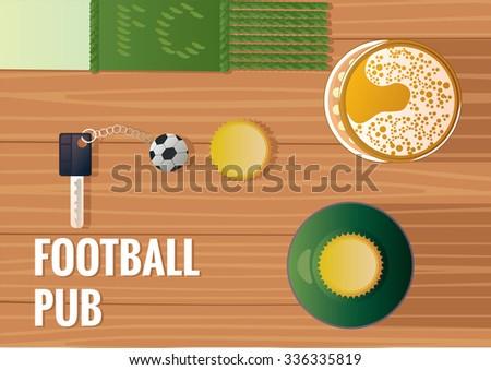 Football pub - stock vector