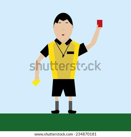 football referee - stock vector