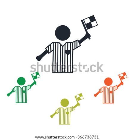 Football referee icon - stock vector