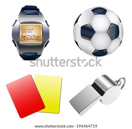 Football set. - stock vector