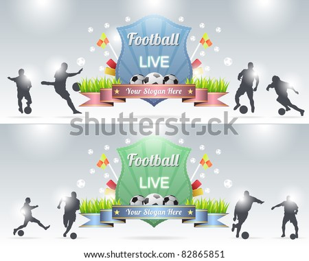 Football Shield - stock vector