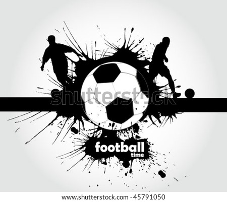 football sign - page header - stock vector