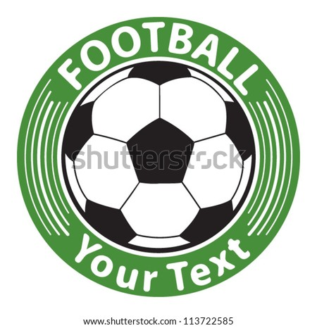 Football sign, soccer ball - stock vector