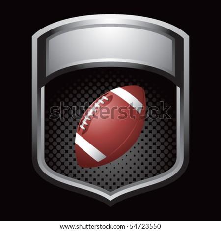 football silver display - stock vector