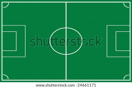 Football (soccer) Field - stock vector