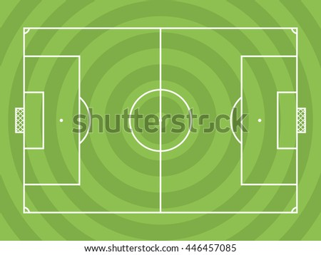 Football (soccer) pitch Design can be used for a website, mobile application, presentation, corporate identity design, wherever you decide that you need is. Looks good in small size, easy to modify.