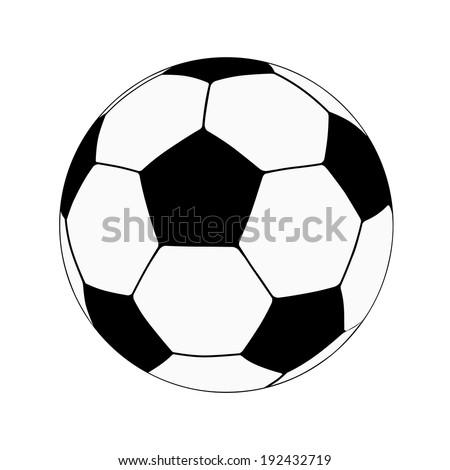 Football Soccer schematic ball, Vector illustration. - stock vector