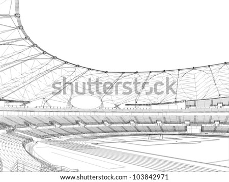 Football Soccer Stadium Vector 14 - stock vector